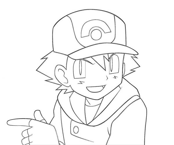 main character ash ketchum on pokemon page sky