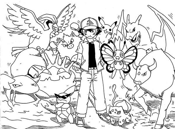 Pokemon Ash Coloring Pages Coloring Pages Print Pokemon Ash And