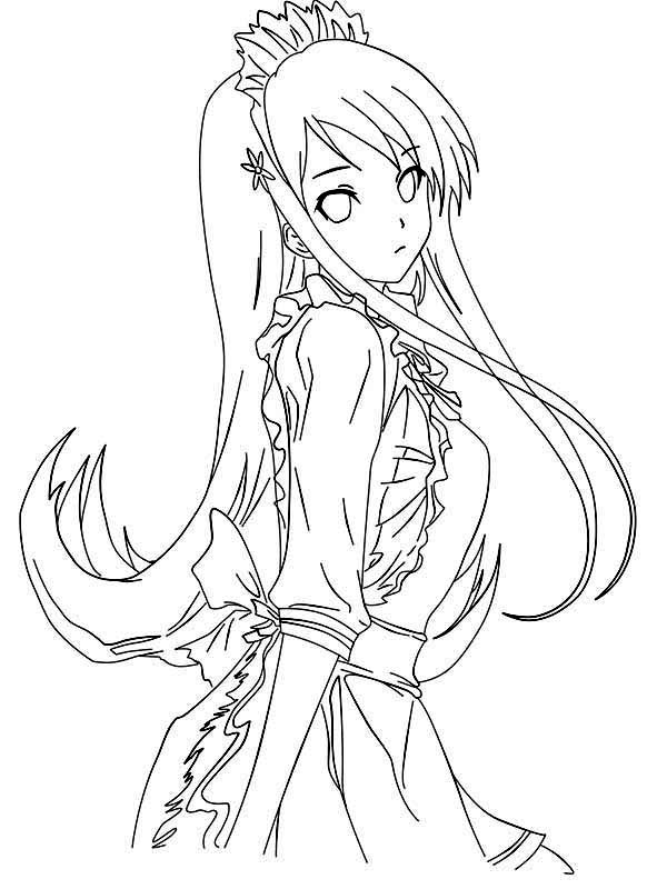 picture of princess anime coloring page coloring sky