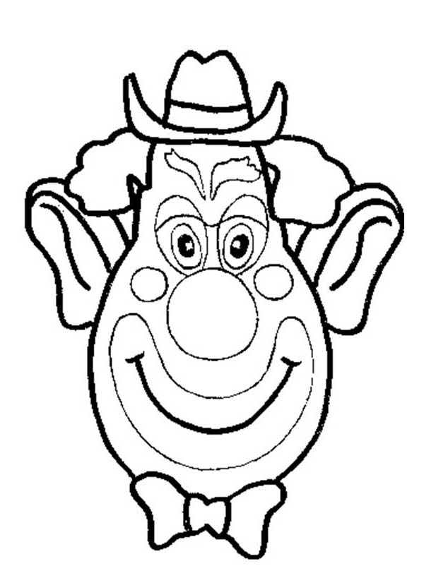 Clown Funny Silly Face Coloring Page : Coloring Sky | printable coloring pages funny