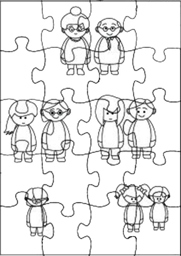 family theme jigsaw puzzles coloring page  coloring sky