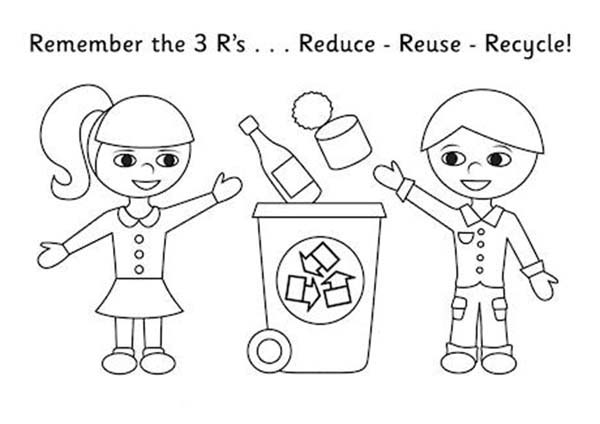 kids collecting recycling waste coloring page coloring sky