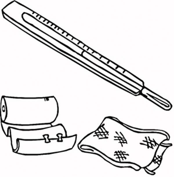 medical first aid package coloring page coloring sky