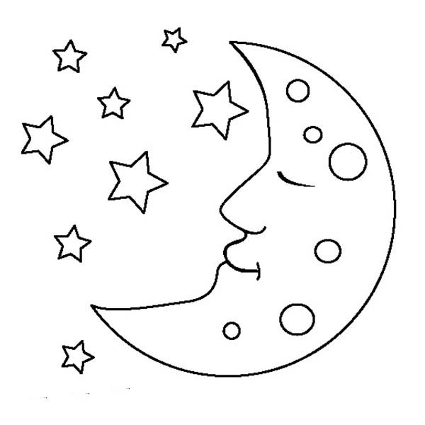 full moon coloring pages full moon coloring full moon and stars
