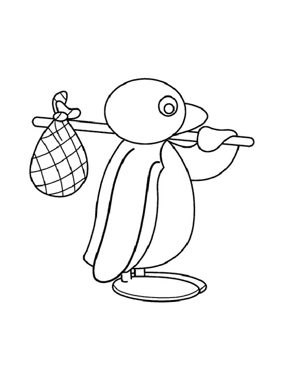 pingu pingu is going for adventure coloring page pingu is going