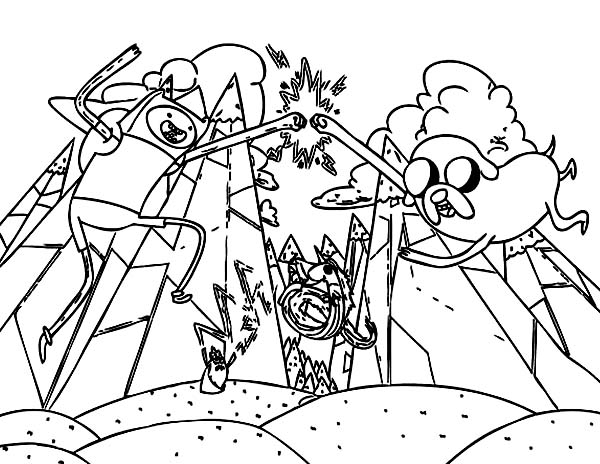adventure time fight the evil ice king coloring pages coloring sky