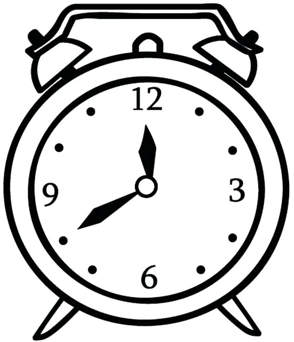 drawing alarm clock coloring pages coloring sky
