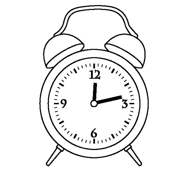 alarm clock outline coloring pages coloring sky
