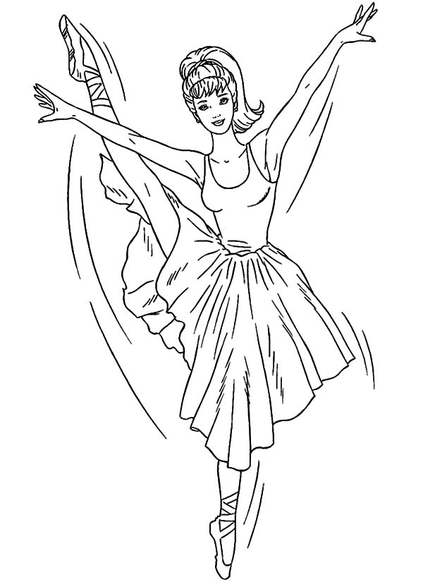 ballerina girl coloring pages for kids coloring sky