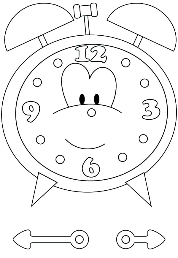 alarm clock coloring pages for kids coloring sky