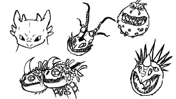 coloring pages how to train your dragon drawing dragons head coloring