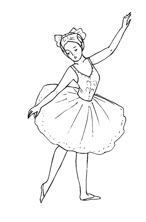 Little Ballerina Girl Coloring Pages Coloring Sky