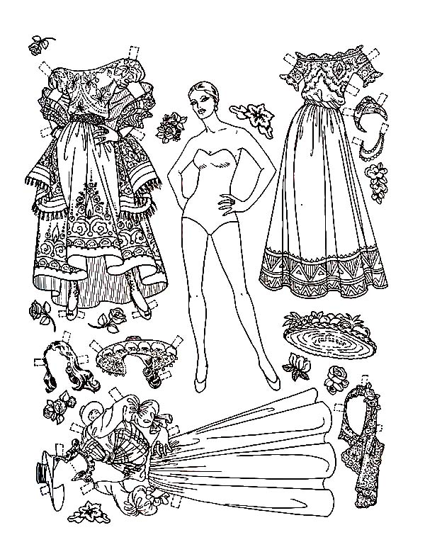 christmas carol doll dress coloring pages coloring sky