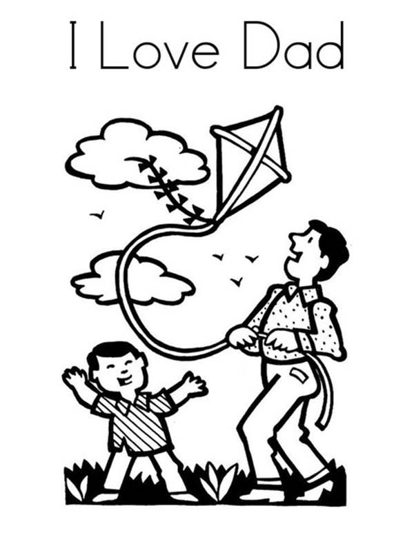 i love dad my gift for you daddy coloring pages  coloring sky