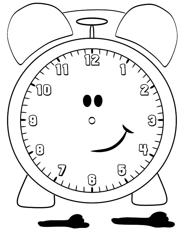 smiling alarm clock coloring pages coloring sky