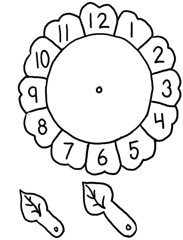 sunflower alarm clock coloring pages sunflower alarm clock