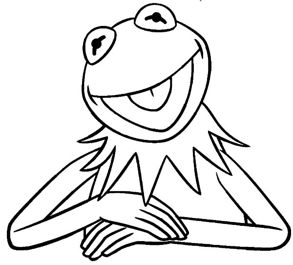 the frog coloring pages the famous kermit the frog coloring pages