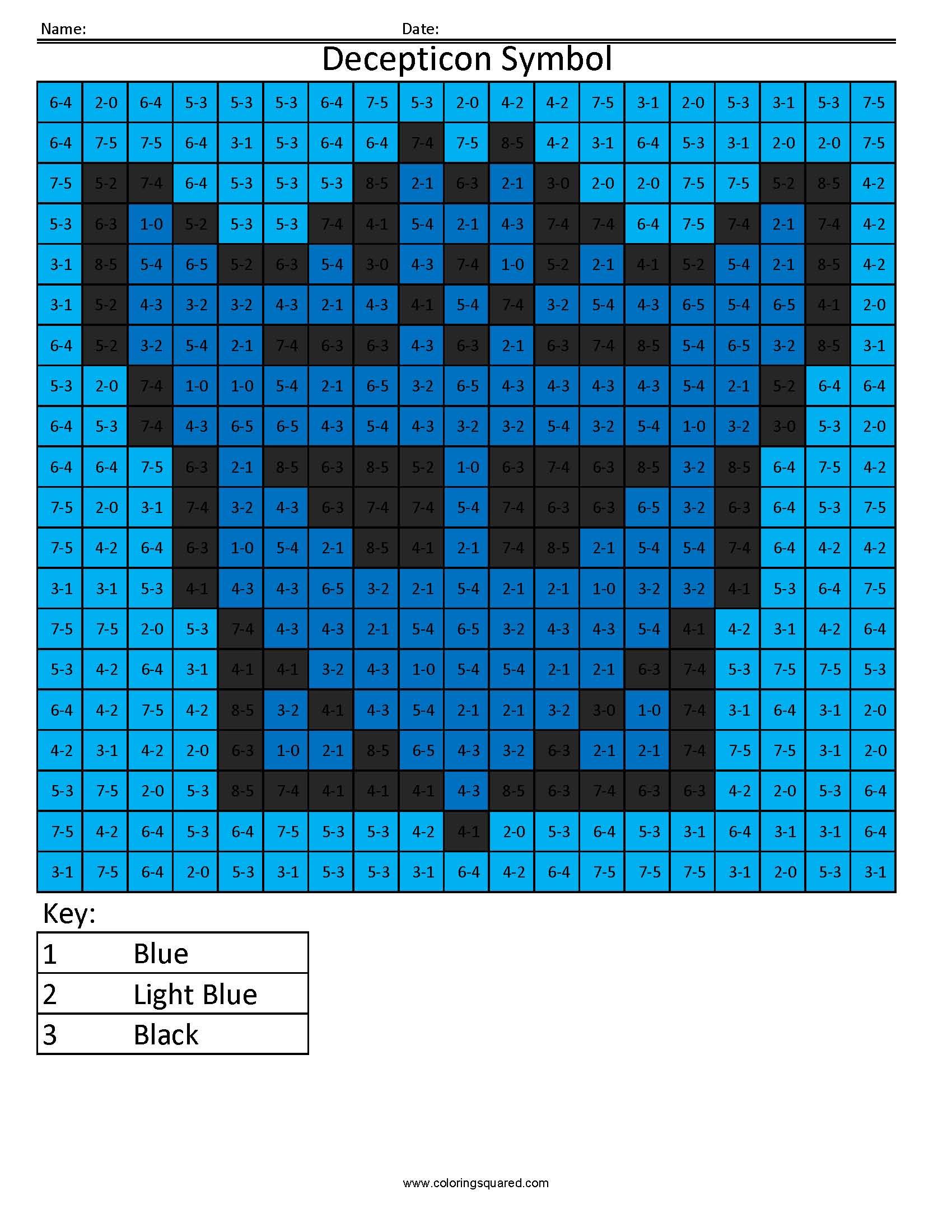 2 Decepticon Symbol Transformers Addition And Subtractions