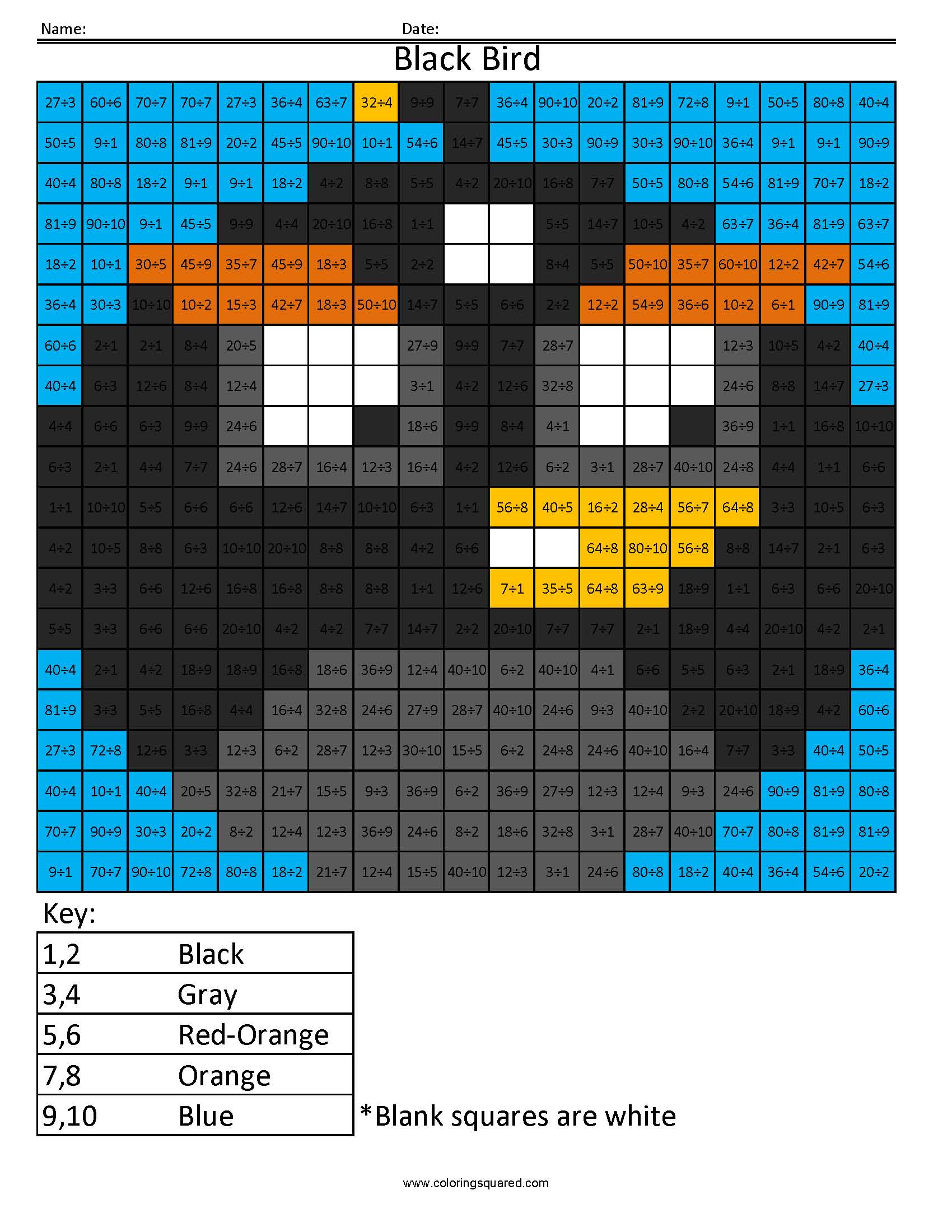 Md5 Black Bird Multiplication Division Times Table