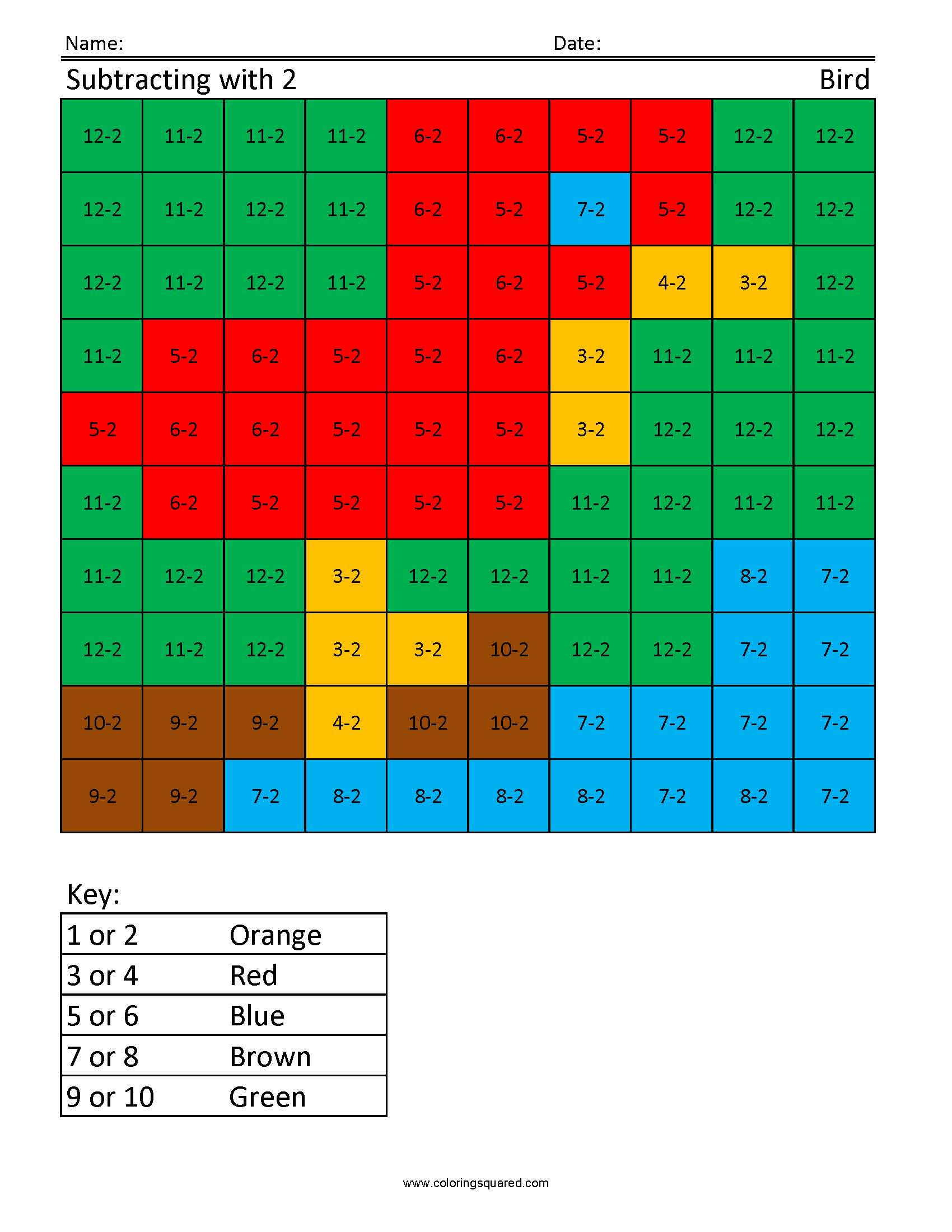 Js2 Bird Free Printable Worksheets For Children