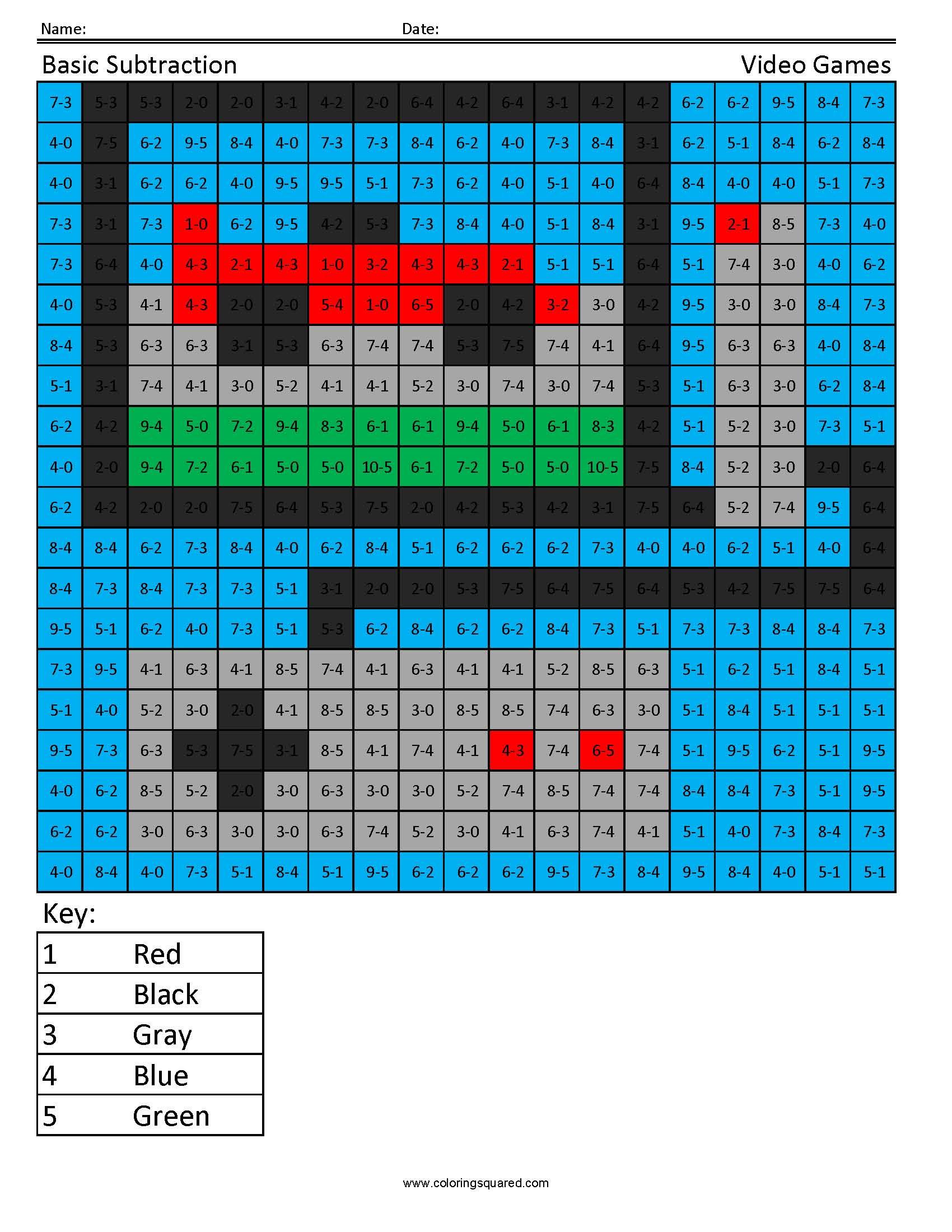 Practice Subtraction Video Games