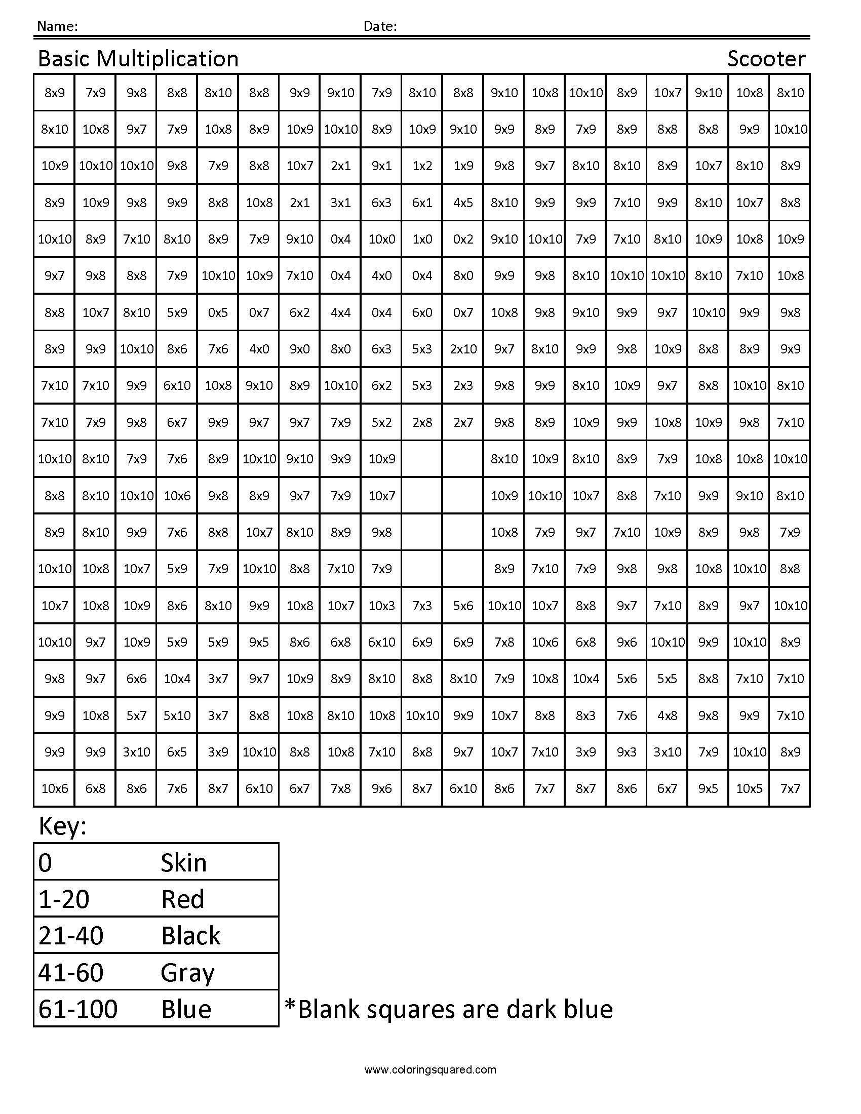 3g9 Scooter Multiplication Third Grade Math
