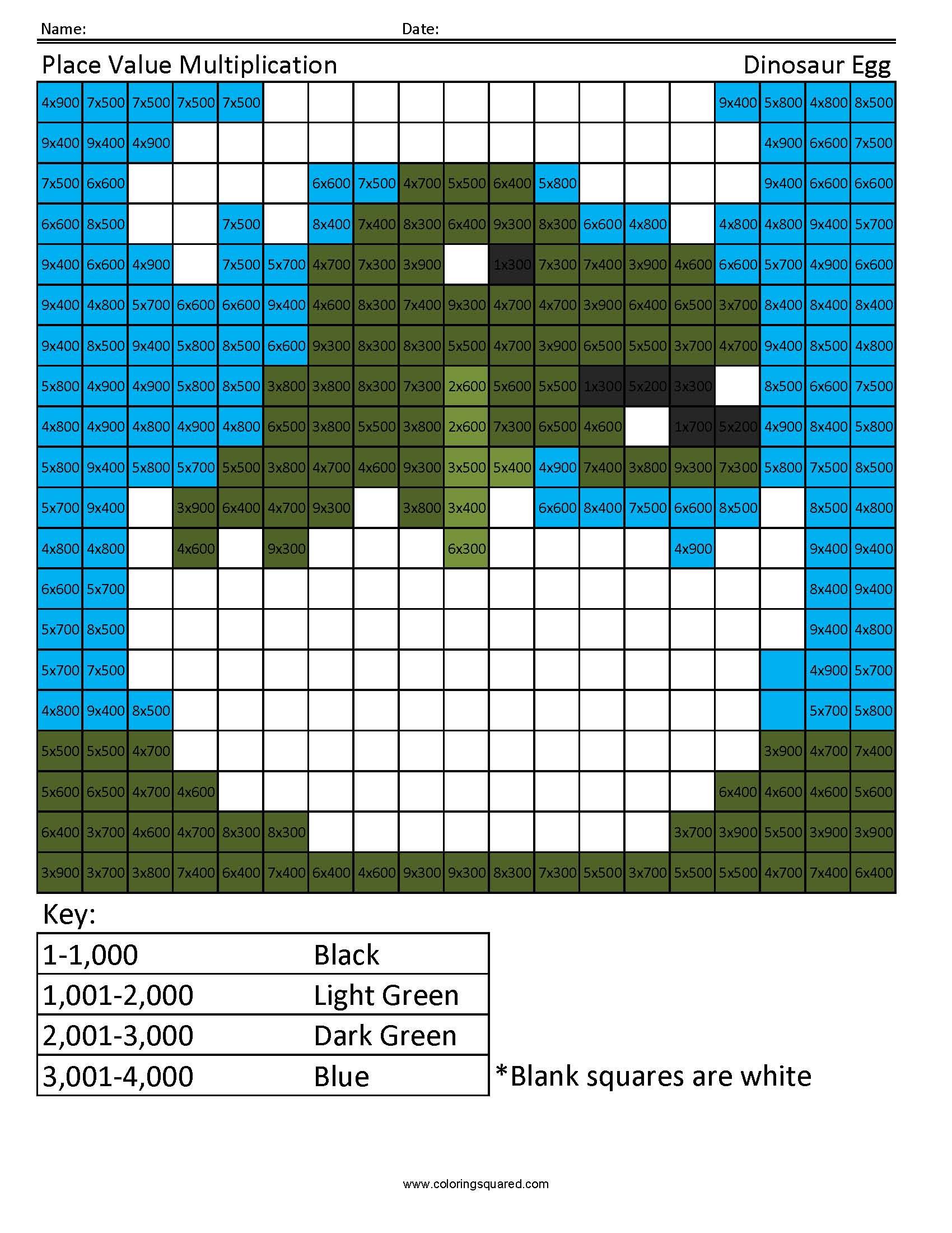 4g17 Pvm Dinosaur 4th Grade Math