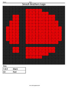 Nintendo Addition And Subtraction Coloring Squared