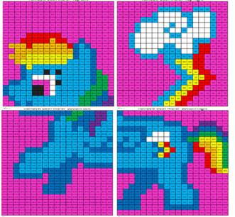 Rainbow Dash Multiplication And Division Mural Coloring
