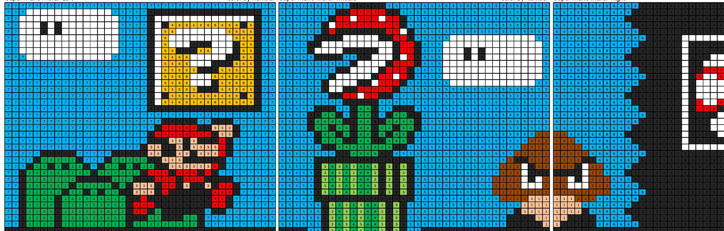 Super Mario Megapixel Coloring