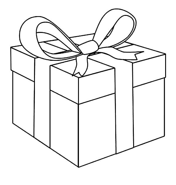 awesome present box coloring page coloring sun