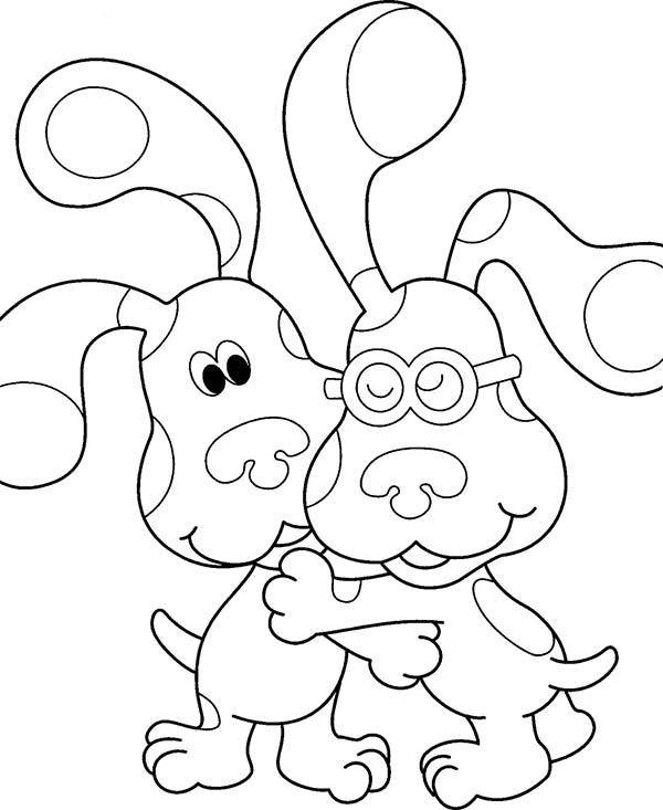 Coloring pages: Coloring pages: Blue's Clues, printable for kids ... | 733x600