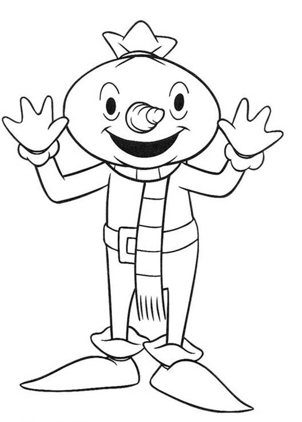 the builder character spud the scarecrow coloring page coloring sun