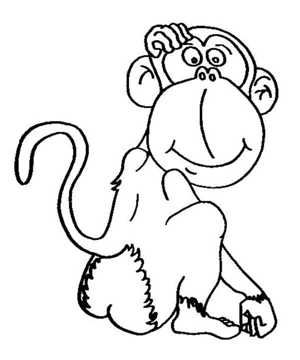 cartoon of chimpanzee coloring page coloring sun