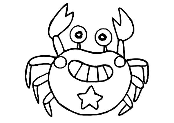 cute crab grin coloring page coloring sun