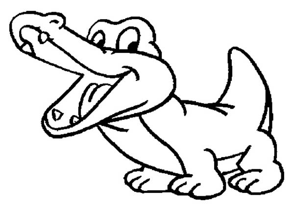 drawing baby crocodile coloring page coloring sun