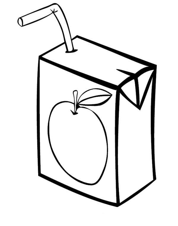 juice box coloring page coloring sun