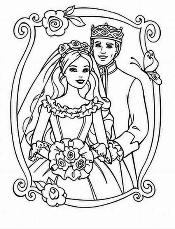 King And Queen Wedding Day Coloring Page King And Queen