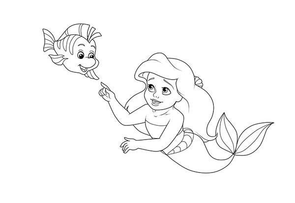 baby ariel coloring pages druntk