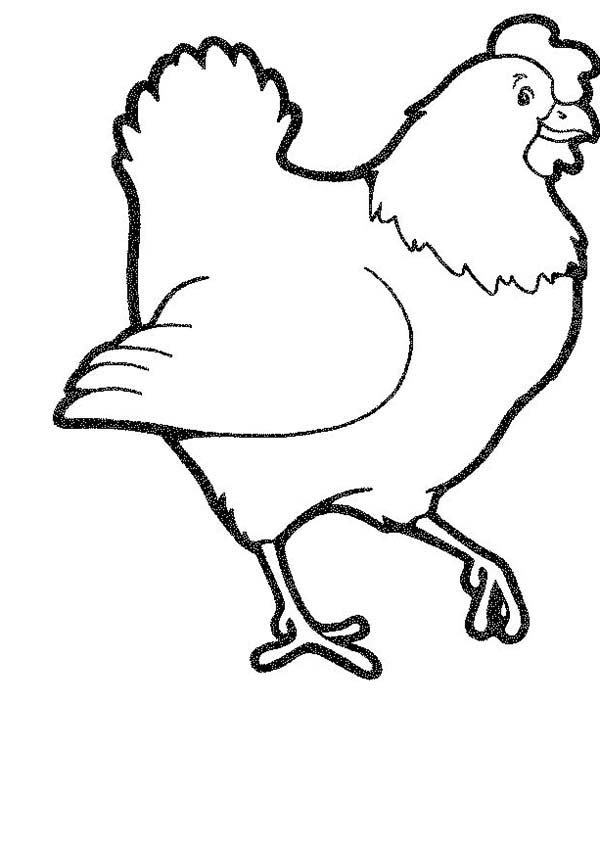 Picture Mother Of Chicken Coloring Page Coloring Sun