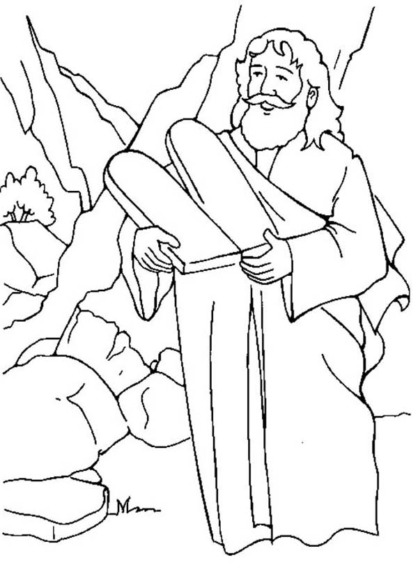 Picture Of Ten Commandments Coloring Page Coloring Sun