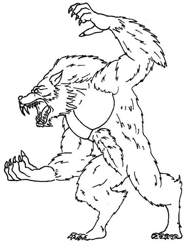 werewolf sharp claws coloring page werewolf sharp claws