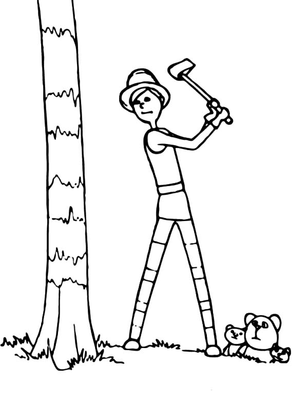 dr seuss the lorax the onceler cut down the tree coloring pages