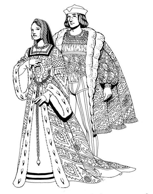 renaissance royal family coloring pages renaissance royal