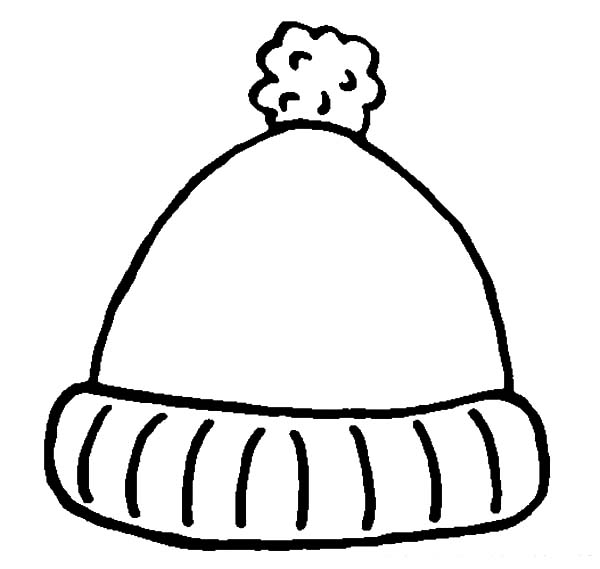 simple winter hat coloring pages simple winter hat coloring pages