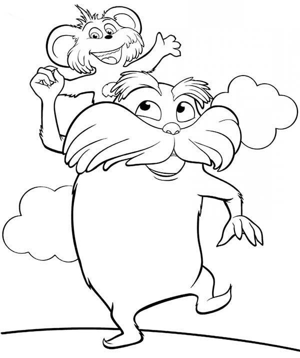 the lorax and forest inhabitant coloring pages the lorax and