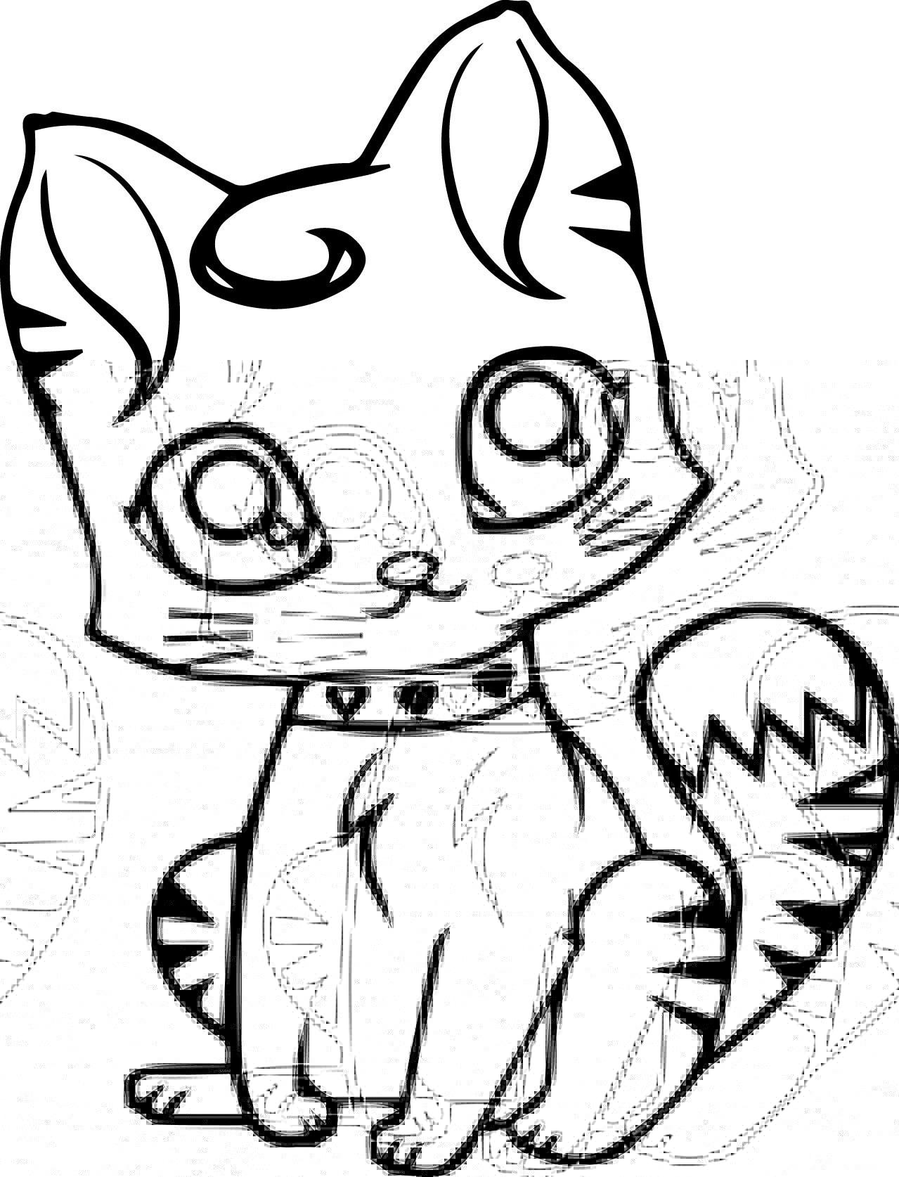 Desenhos De Gato Pequeno Bonito Para Colorir E Imprimir