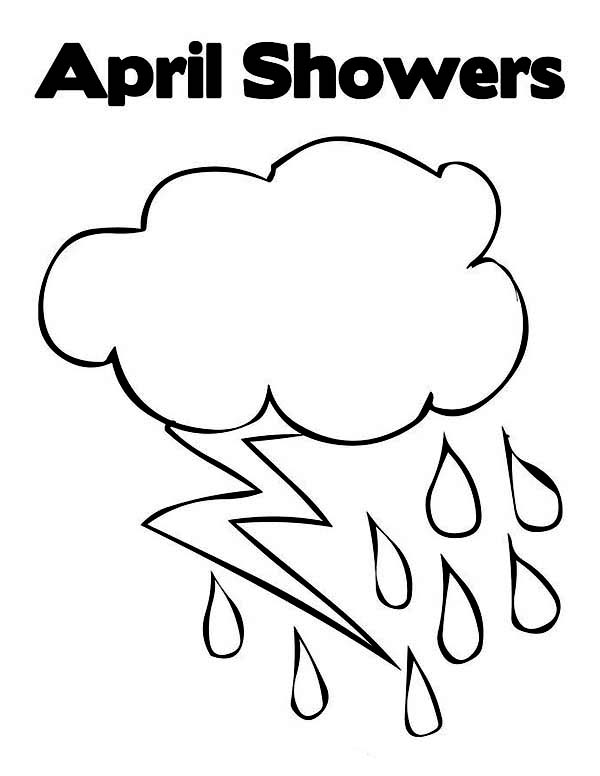 april showers in raindrop coloring page  color luna
