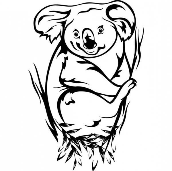 awesome koala bear coloring page color luna