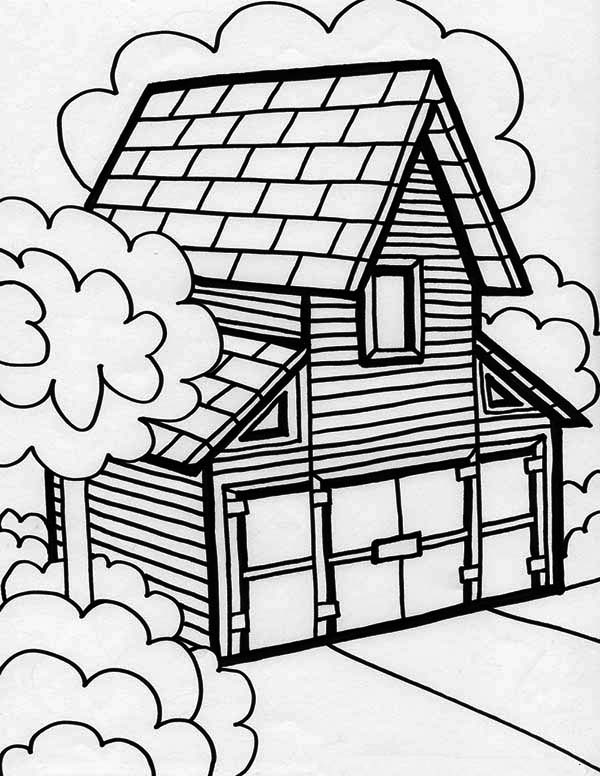 big barn house in houses coloring page big barn house in